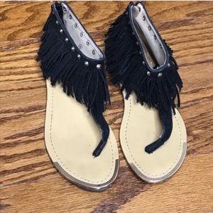 🌼SALE🌼 Liliana Black Fringe Sandals